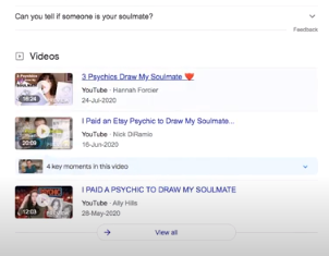 google search for soulmate sketch